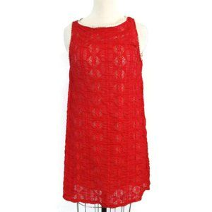 Finn & Clover Red stretch Lace Dress Large